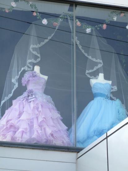ドレス(ブルー&ラベンダー)